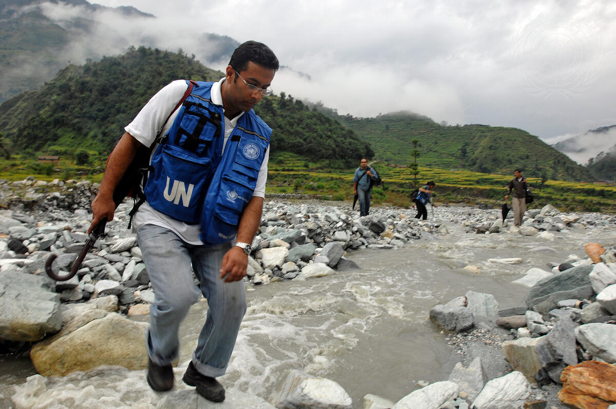 UN Personnel Visits Remote District in Nepal